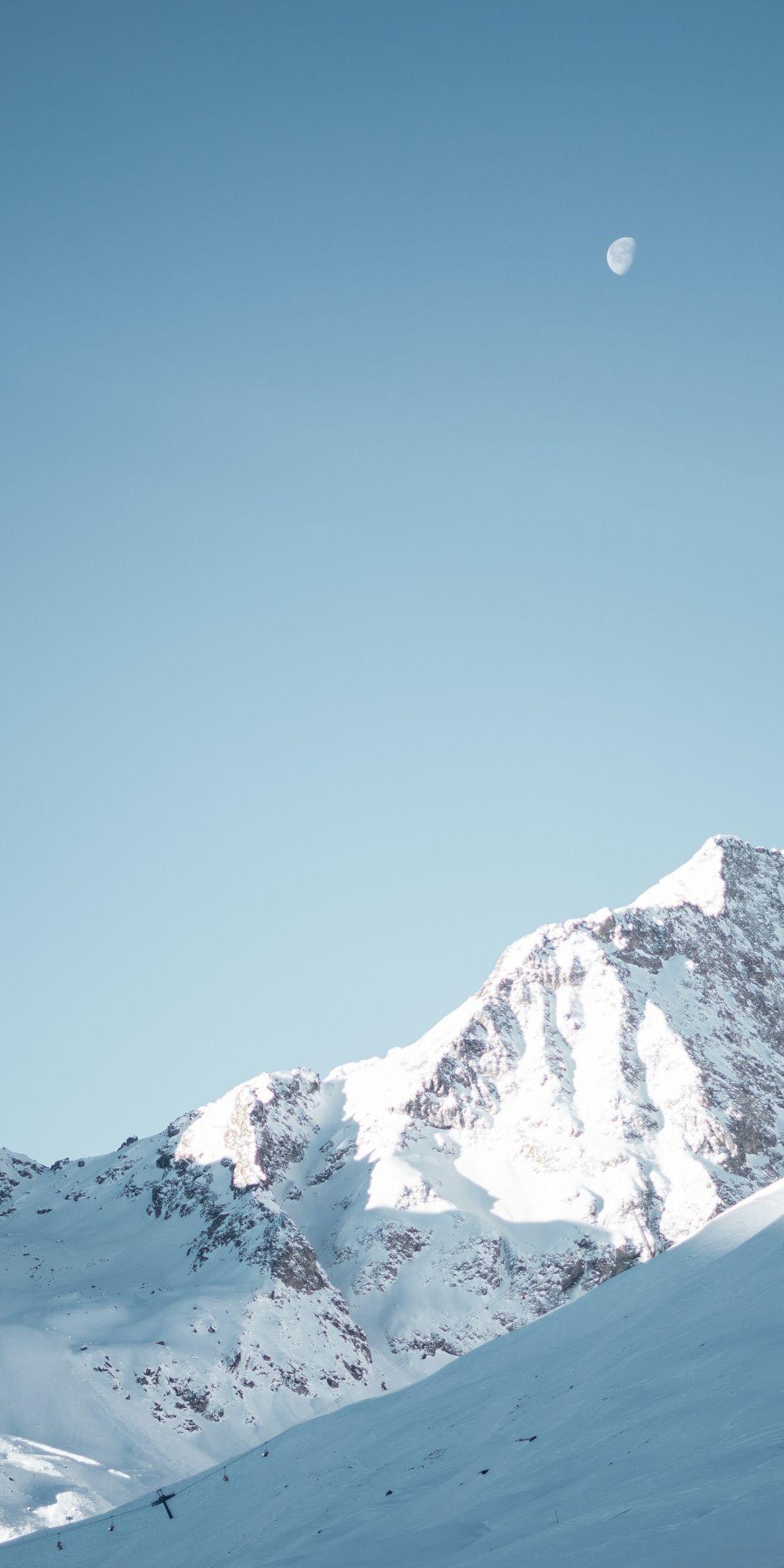 Glacier Mountains Landscape Blue Sky Sunny Day Nature 1080x2160 Wallpaper Blue Sky Wallpaper Scenery Wallpaper Mountains Wallpaper