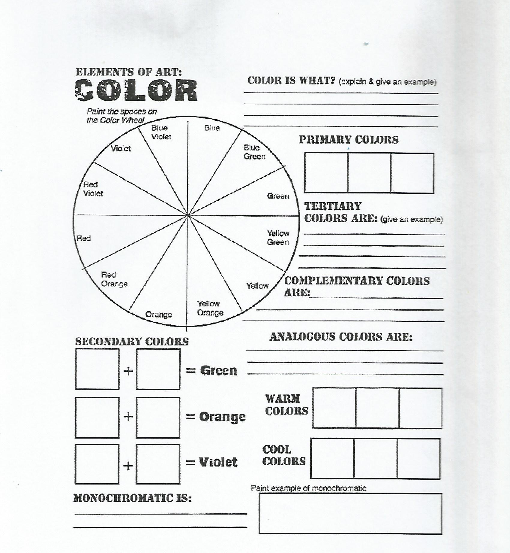 Elements Of Art Color