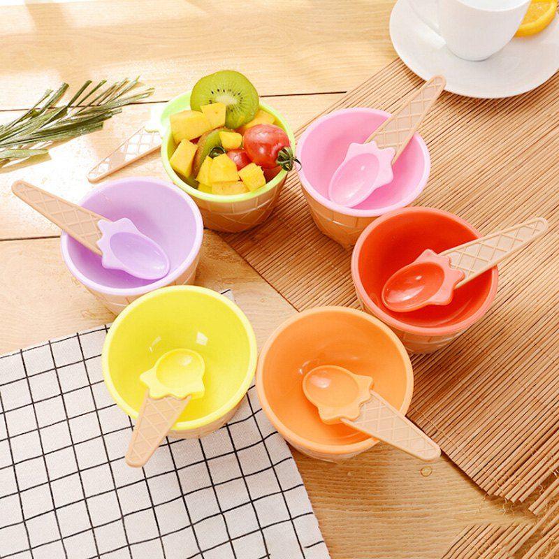 Creative Double Plastic Bowl For Ice Cream Kids Tableware Ad Sponsored Plastic Bowl Creative Double K Kids Tableware Ice Cream Kids Ice Cream Cup