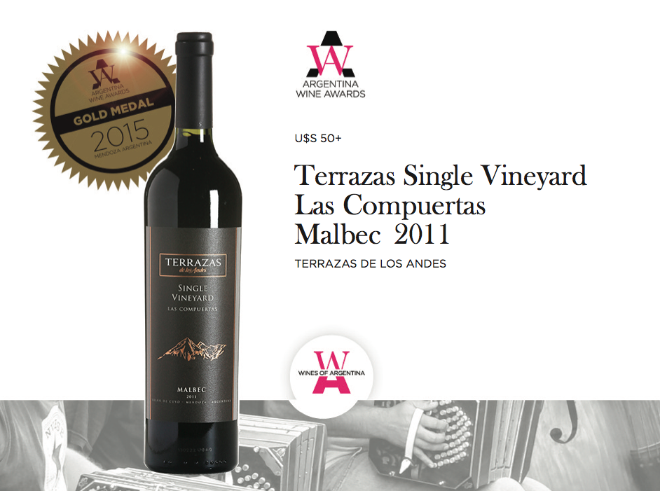 Awa2015 Gold Winner Malbec U S 50 Terrazas Single