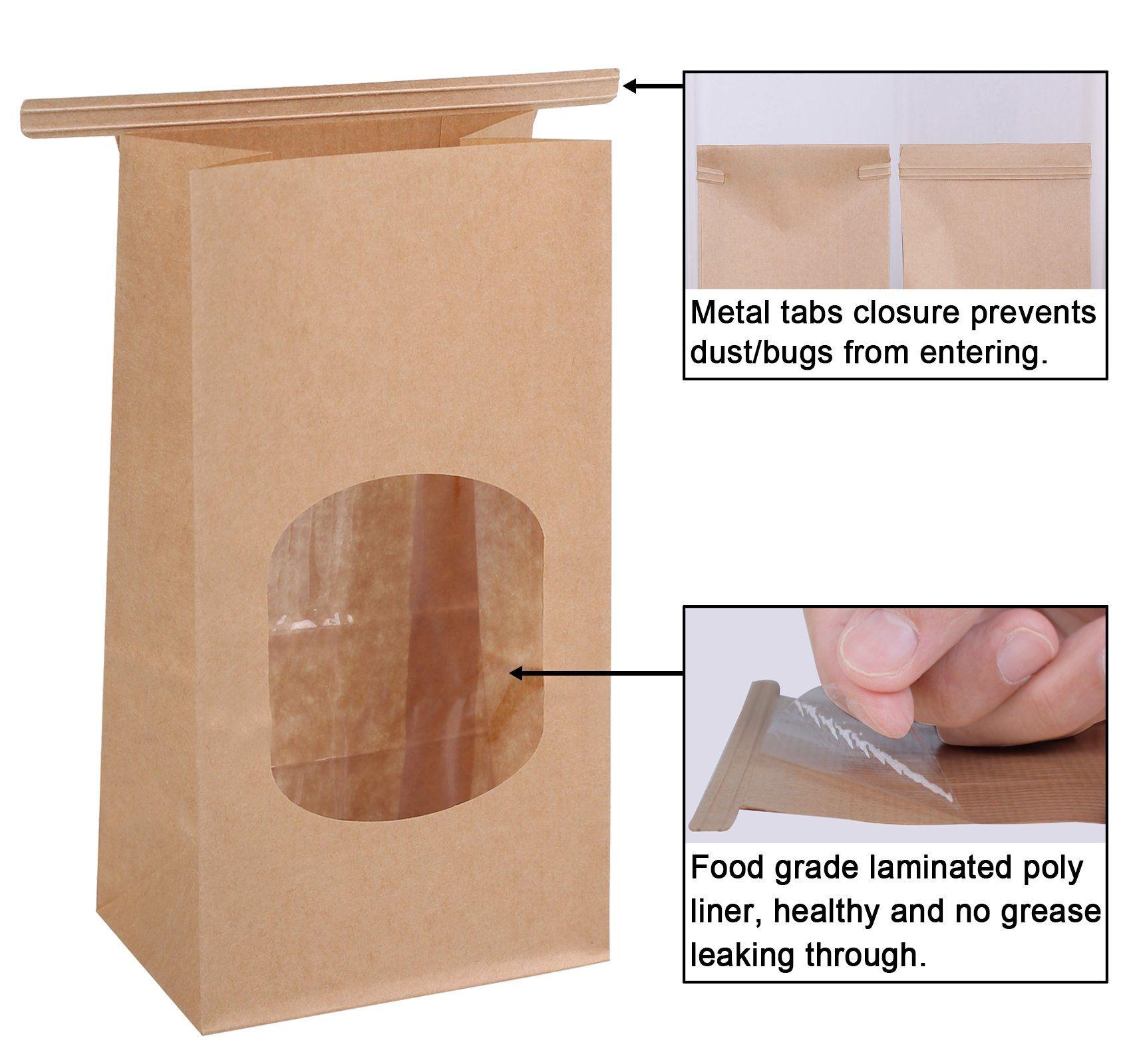 Bagdream bakery bags wax kraft paper bags 50pcs 354x2