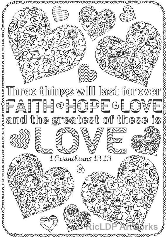 love bible verses coloring pages - photo#14
