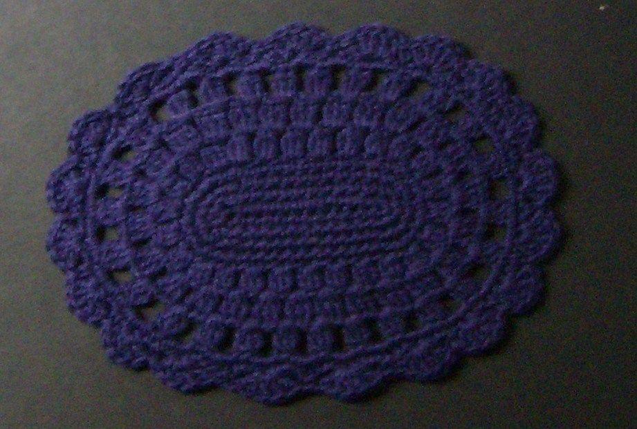 Crochet Miniature Dollhouse Rug Handmade