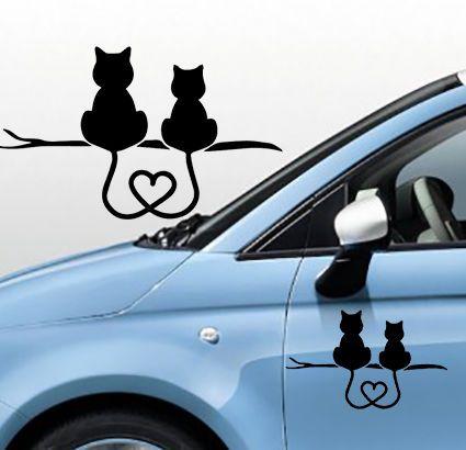 Dettagli su adesivo stickers tuning gattini innamorati for Stencil adesivi