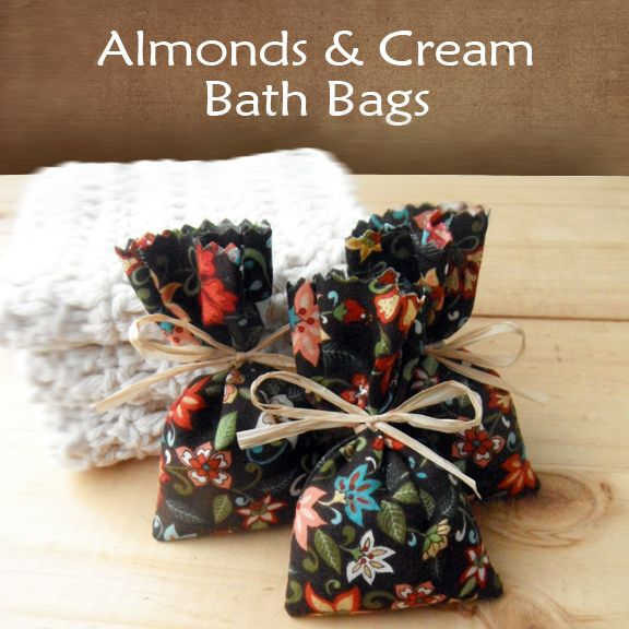 Homemade Skin Care: DIY Almonds & Cream Bath Bags