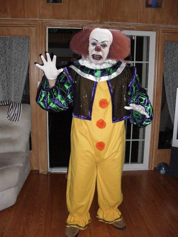 pennywise the clown costume custom made to your size