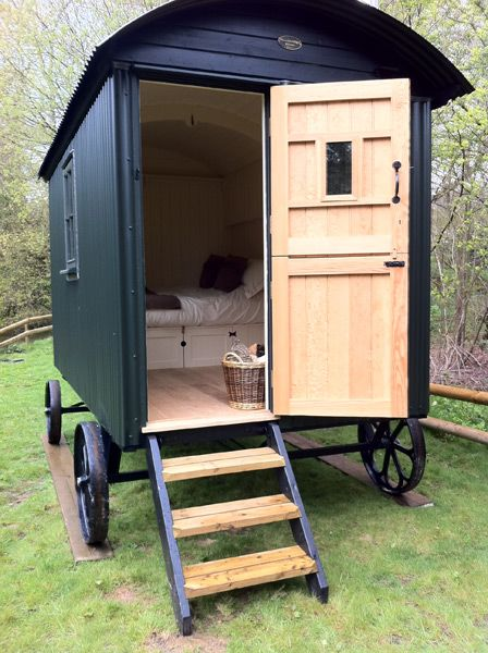 Shepherd's hut ... with a contemporary twist. ~Laura ...