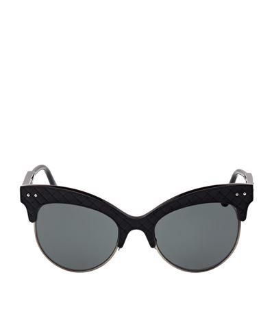 BOTTEGA VENETA BV0014S Polarised Cat Eye Sunglasses. #bottegaveneta #