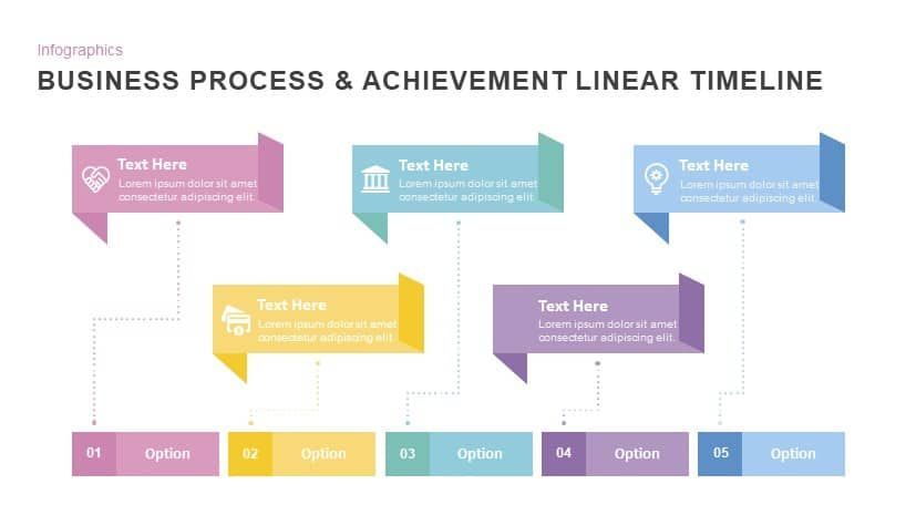 business process achievement linear timeline powerpoint template templates