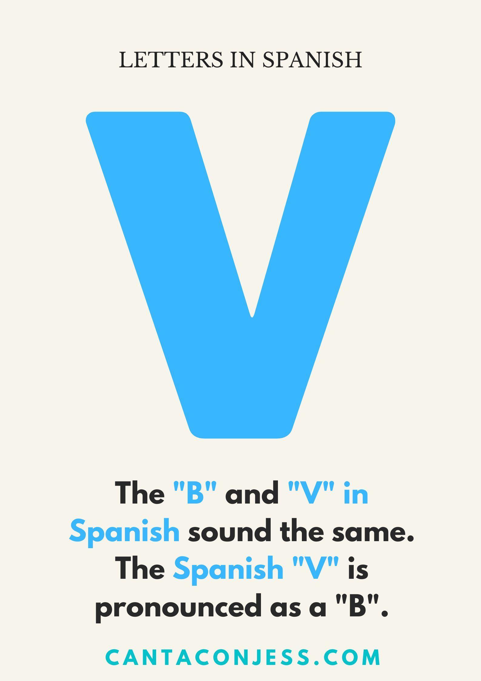 V In Spanish Pronunciation Tips Spanish Alphabet Spanish Alphabet Songs
