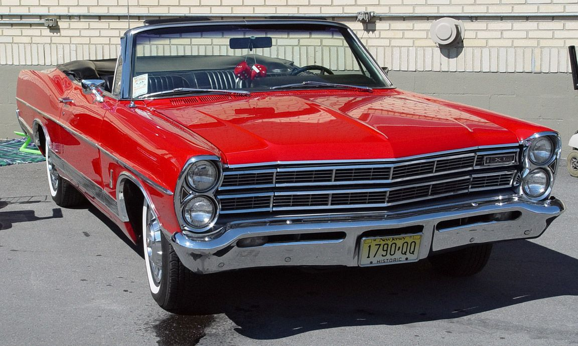 1967 Ford Galaxy 500xl Convertible Red Front Angle Ford