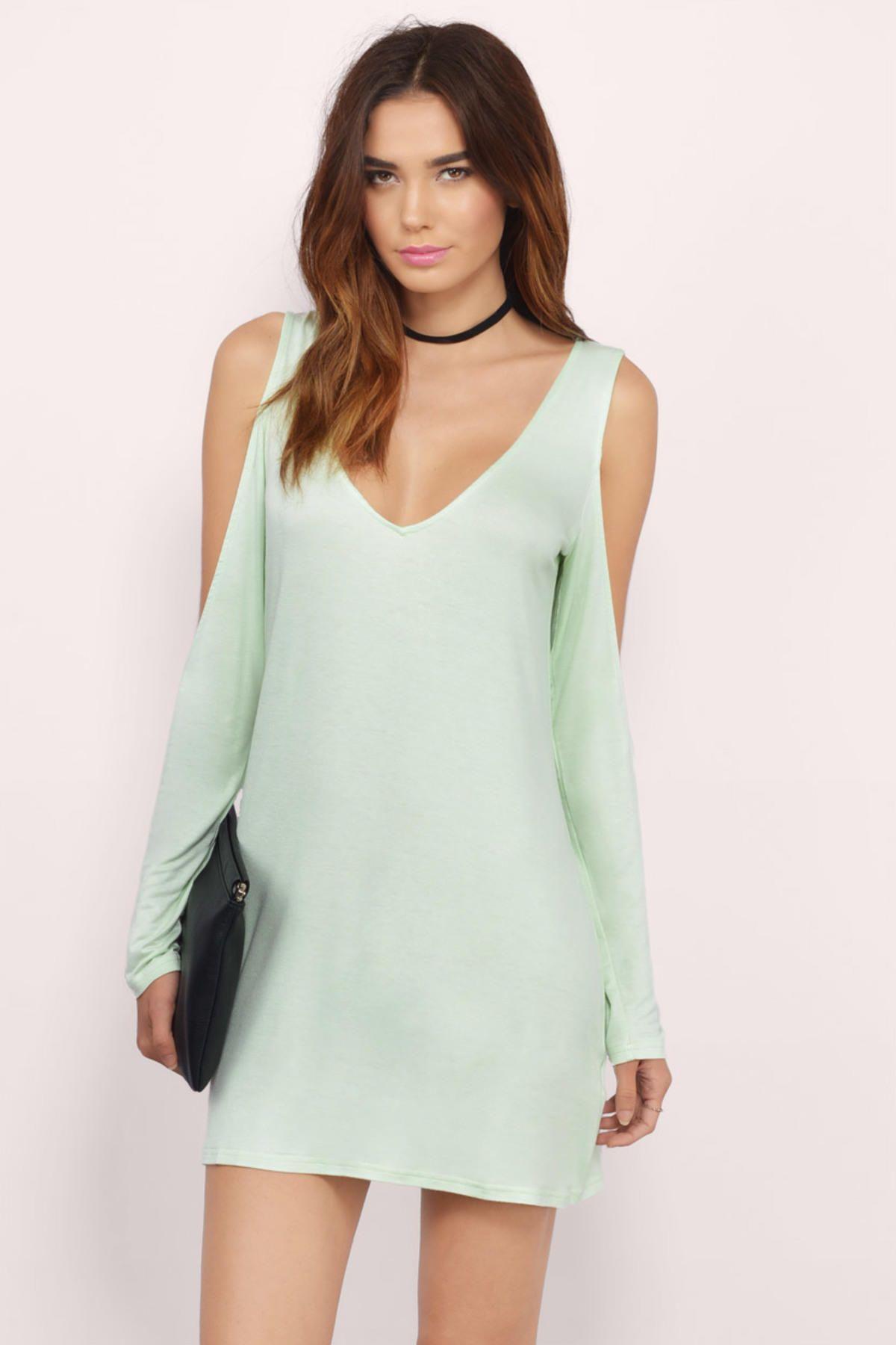 Green dress night out  Mint Missy Dress at   Threads  Pinterest