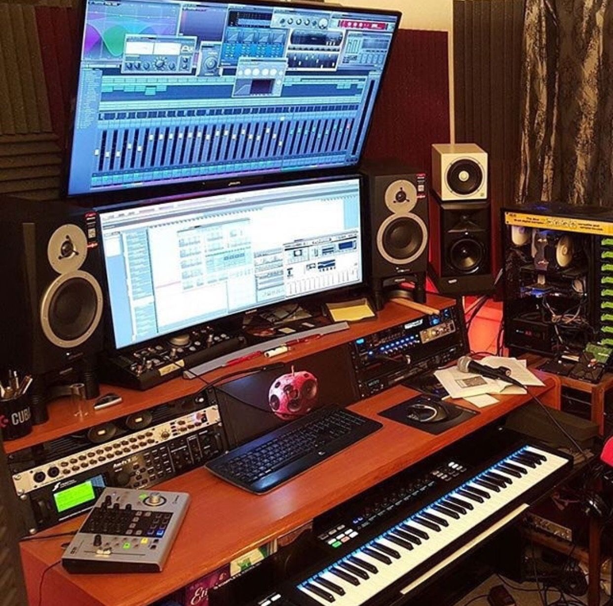 Pin by Mean Gene on COOL RECORDING STUDIO SETUPS in 2019