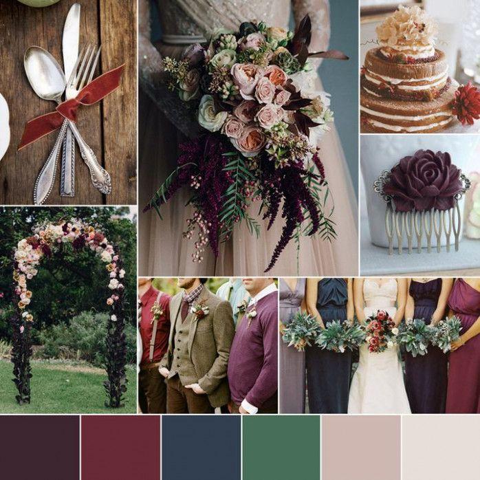 Dark Wedding Colors Colour Palettes