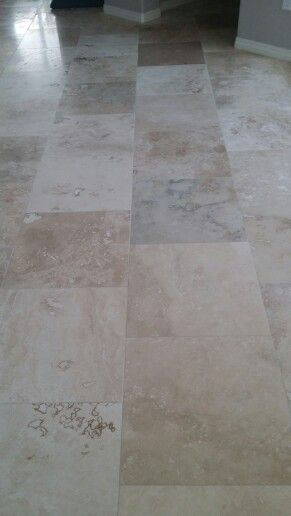 Floor Love 18x18 Travertine Filled Honed Beige Brown Onyx With 1 16th Grout Line Fancy Houses Flooring House Tiles