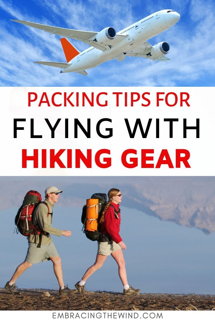 Photo of Flying with hiking and camping gear