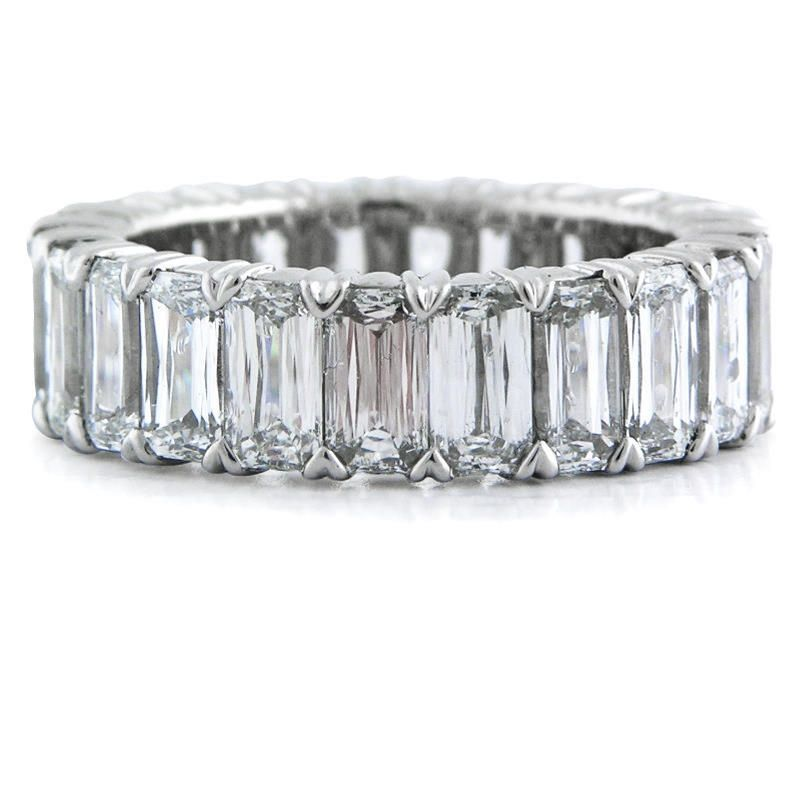 8 07ct Christopher Designs Diamond Platinum Eternity Wedding Band Ring
