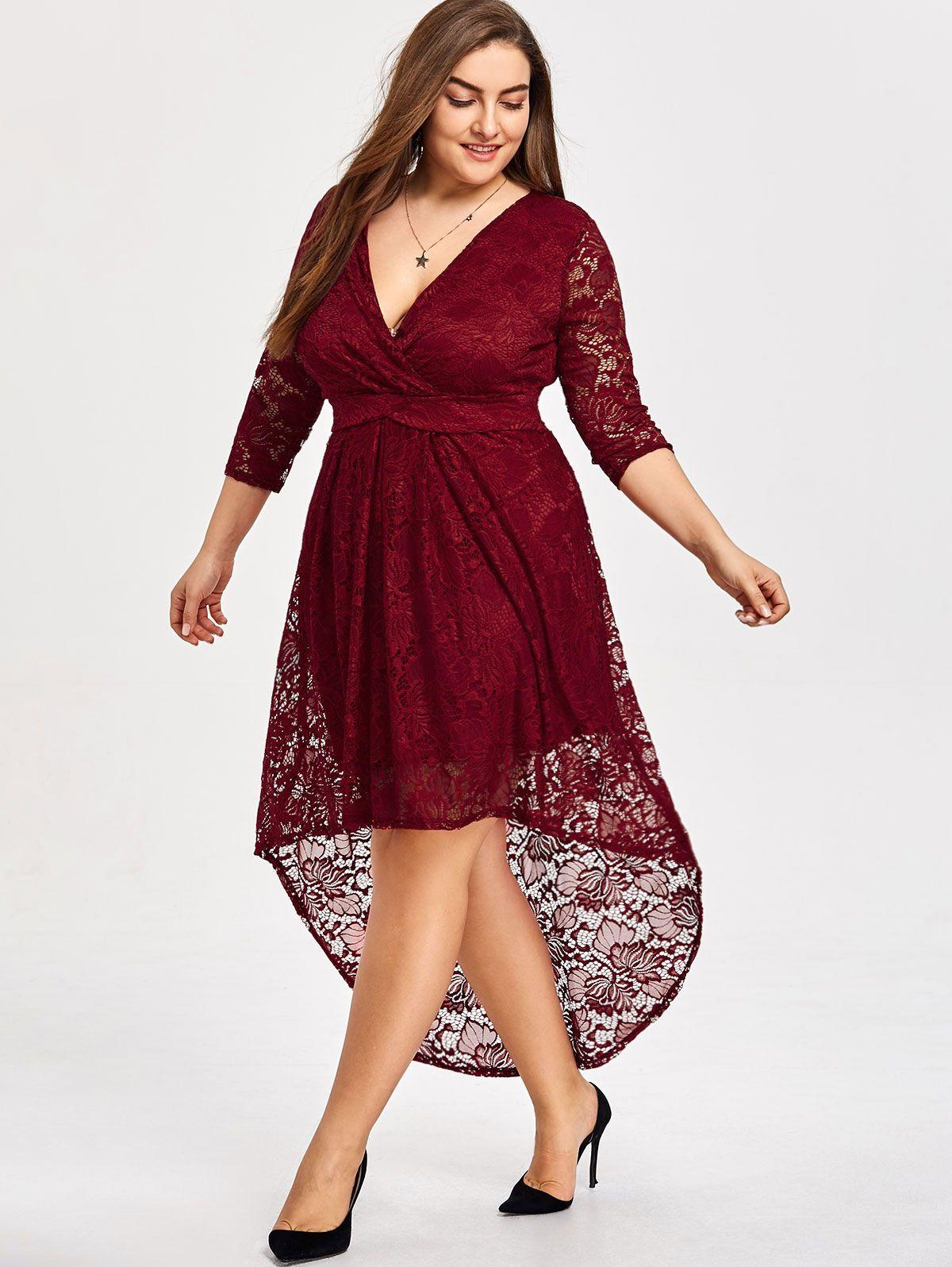 1bddc3f644 Plus Size High Low Lace Vintage Dress | Ariana grande | Dresses ...
