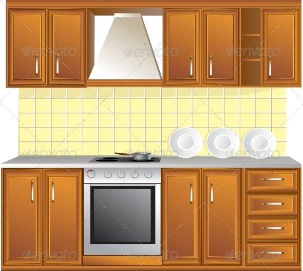Vectors Light Kitchen Graphicriver Kitchen Lighting Kitchen Room Kitchen Clipart