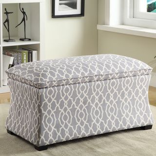 Hourglass Storage Ottoman | Overstock.com Shopping - Great Deals on Office Star Products Benches