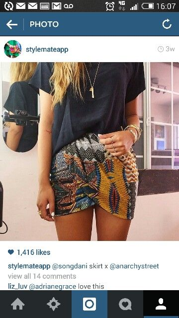 Skirt & luxe tee mix