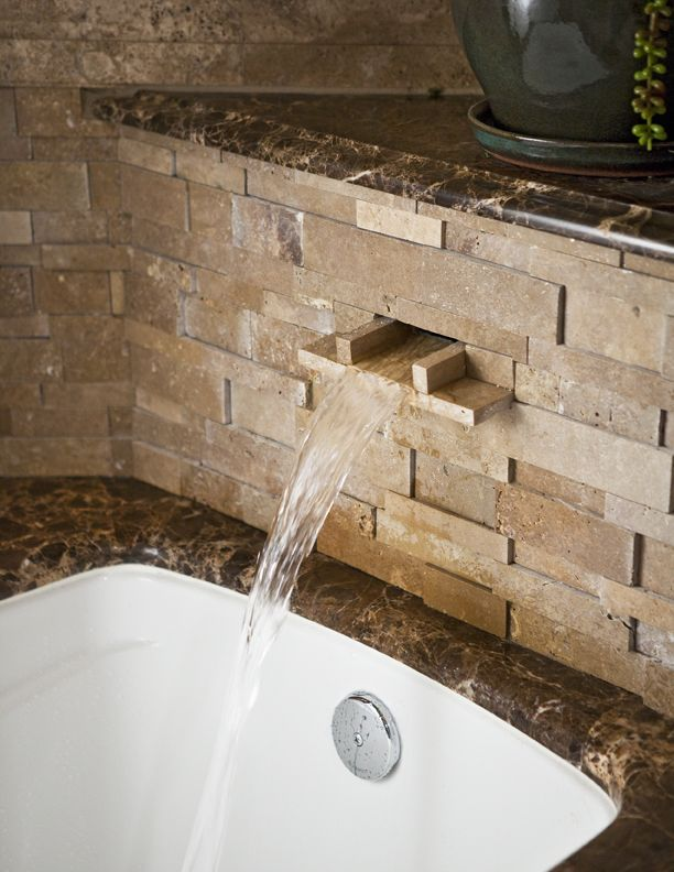 Image result for bathroom waterfall tub   House Remodel   Pinterest ...