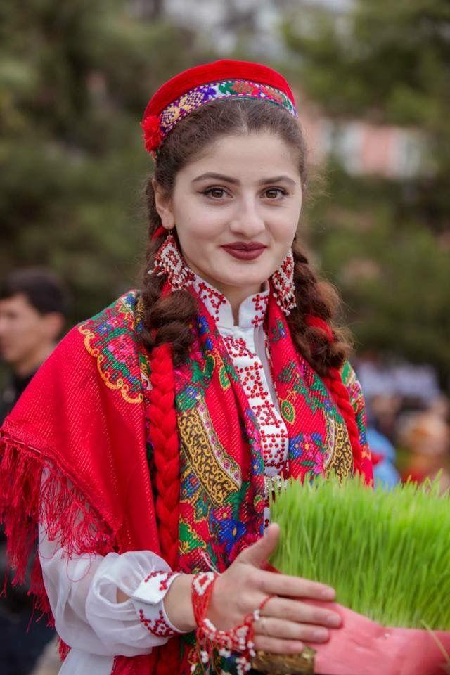 Tajik Girl-In National Dress of Tajikistan   Persian women