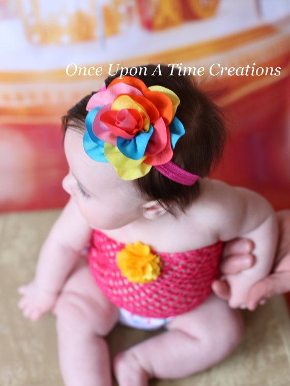Arco iris cumpleaños Puff diadema diadema por OnceUponATimeTuTus ...