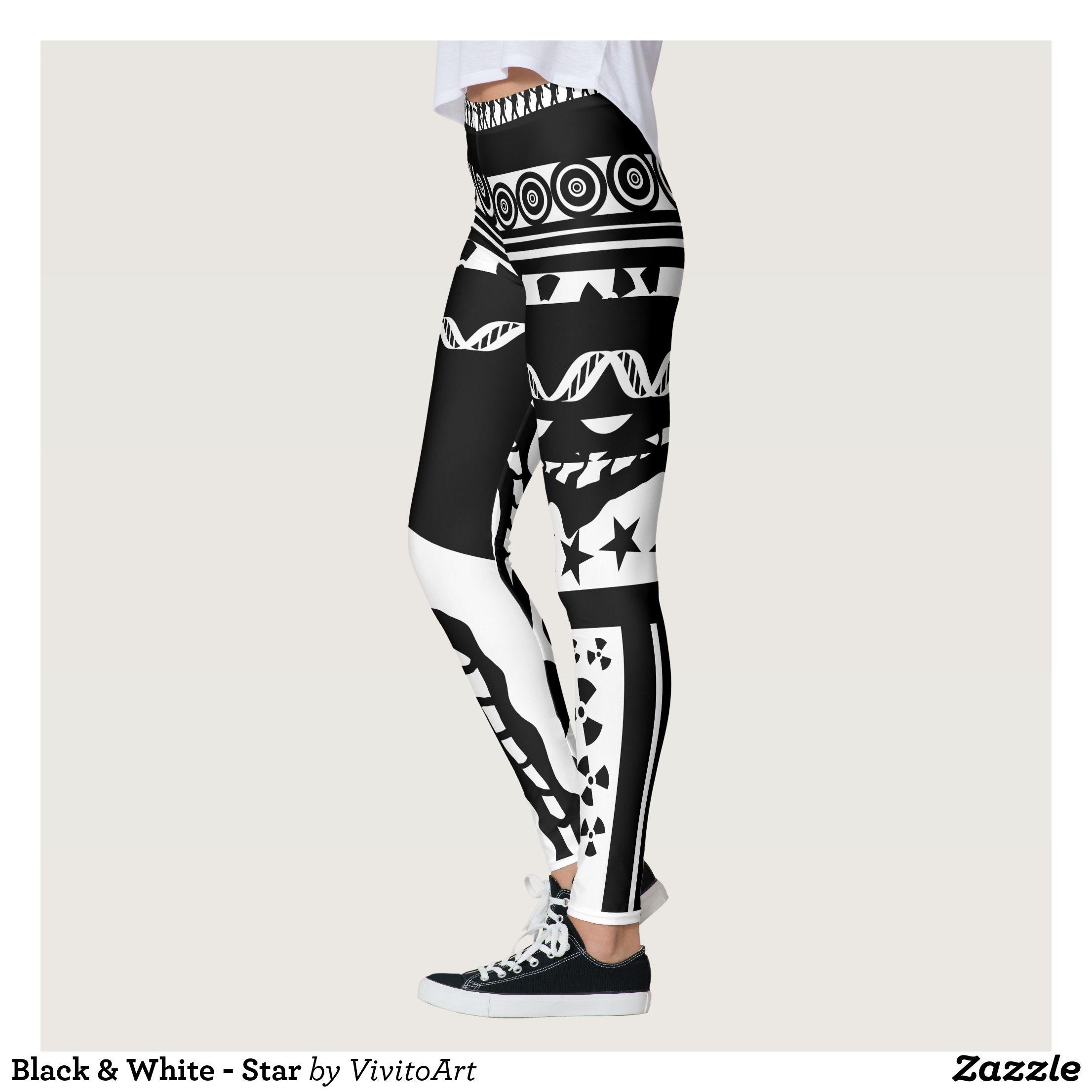 Black & White star Leggings Star leggings