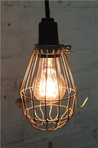 Pendant Light Shade * Wire Cage Light * Ball Trouble Light ...