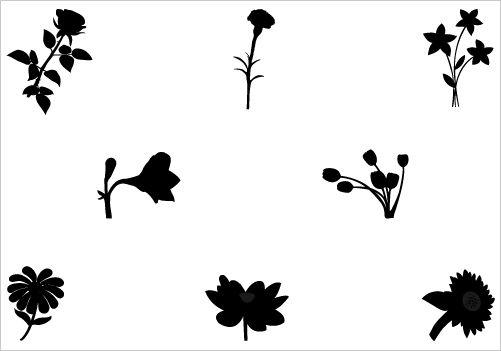 flower vector graphicssilhouette clip art silhouette cutting rh pinterest com au flower petal silhouette vector lotus flower silhouette vector