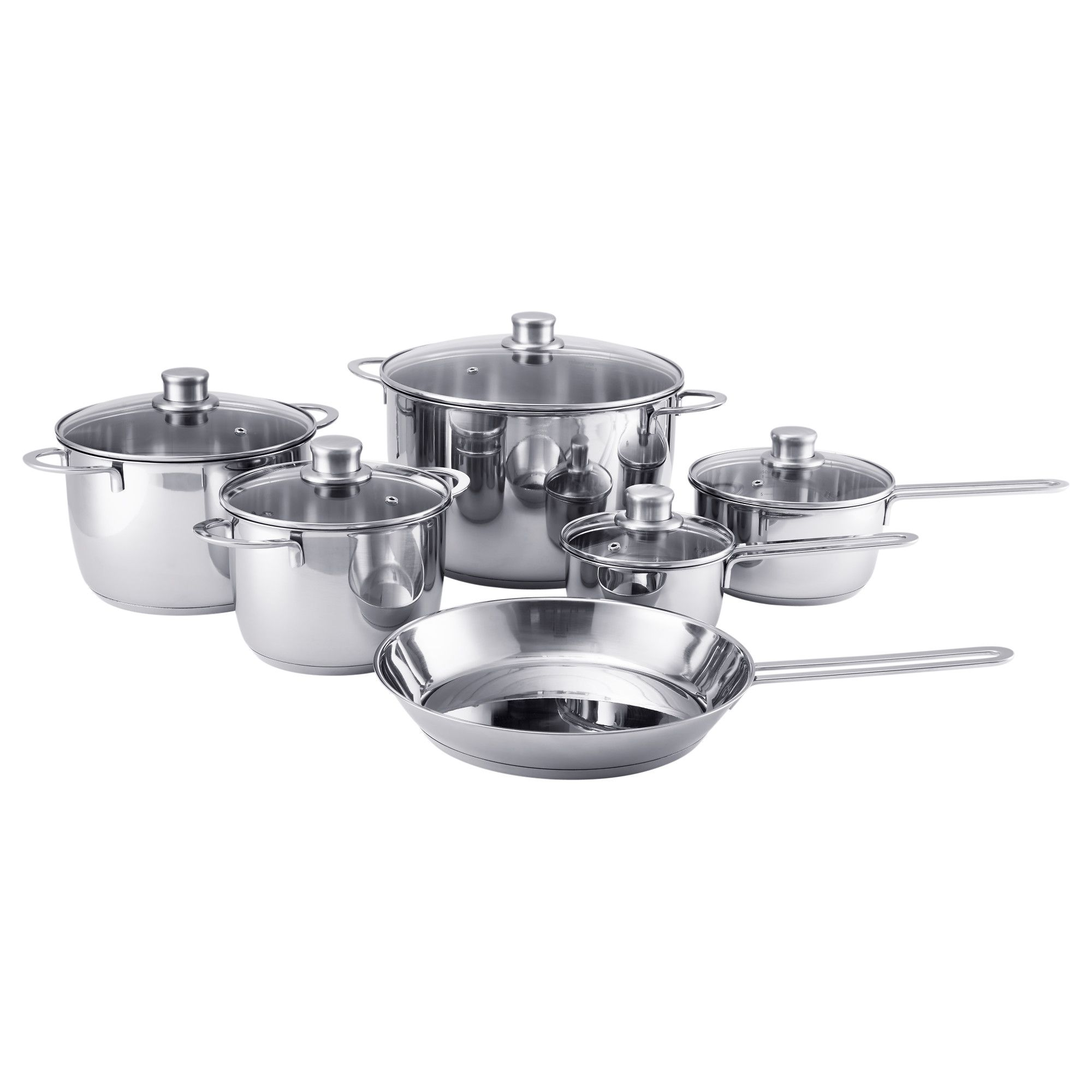 Ikea Polerad Stainless Steel 11 Piece Cookware Set