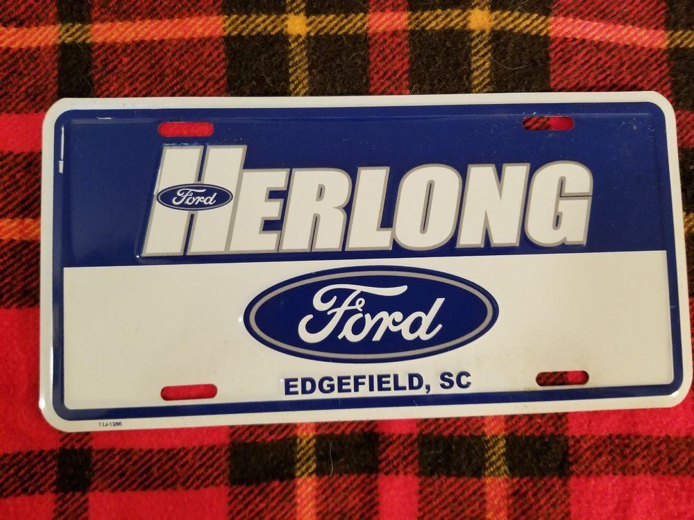 Herlong Ford (Edgefield, SC) Dealership License Plate