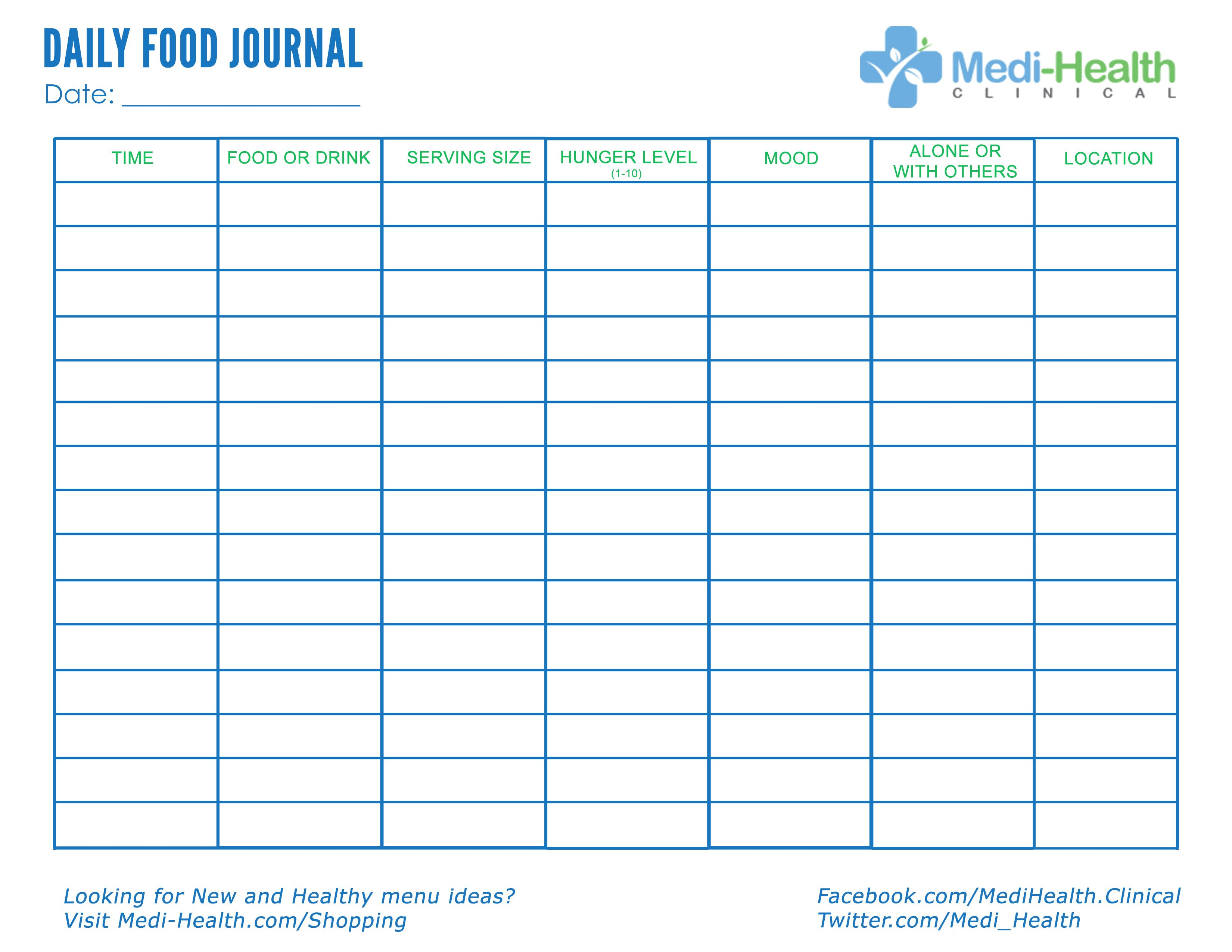 Download free daily food journal foodjournal for Keeping a food diary template