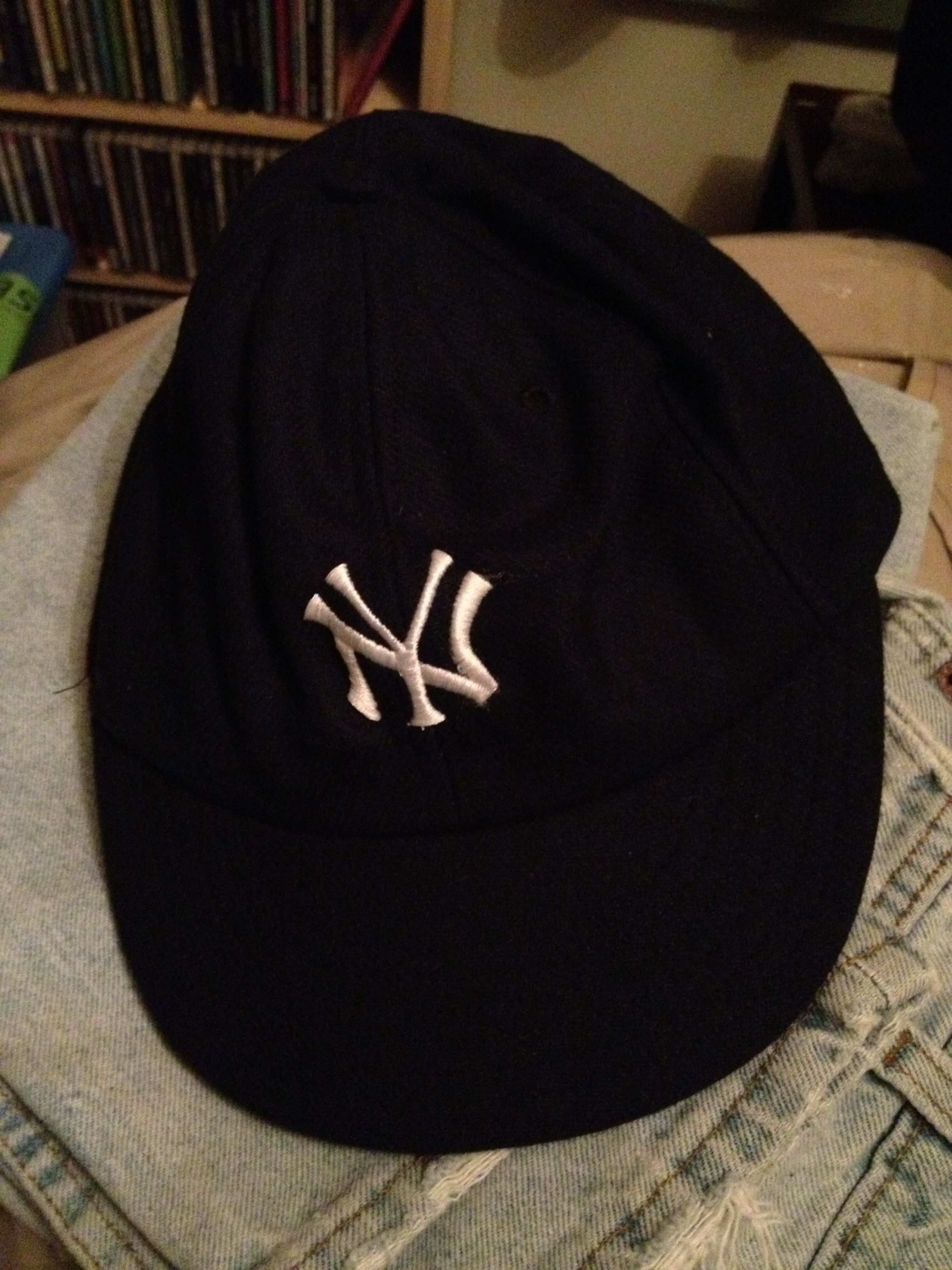 81284f9a 1920's New York Yankees baseball cap made for me by Cooperstown Ball Cap