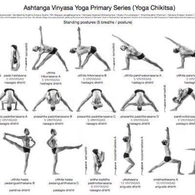 ashtanga primary series sitting postures card  ashtanga