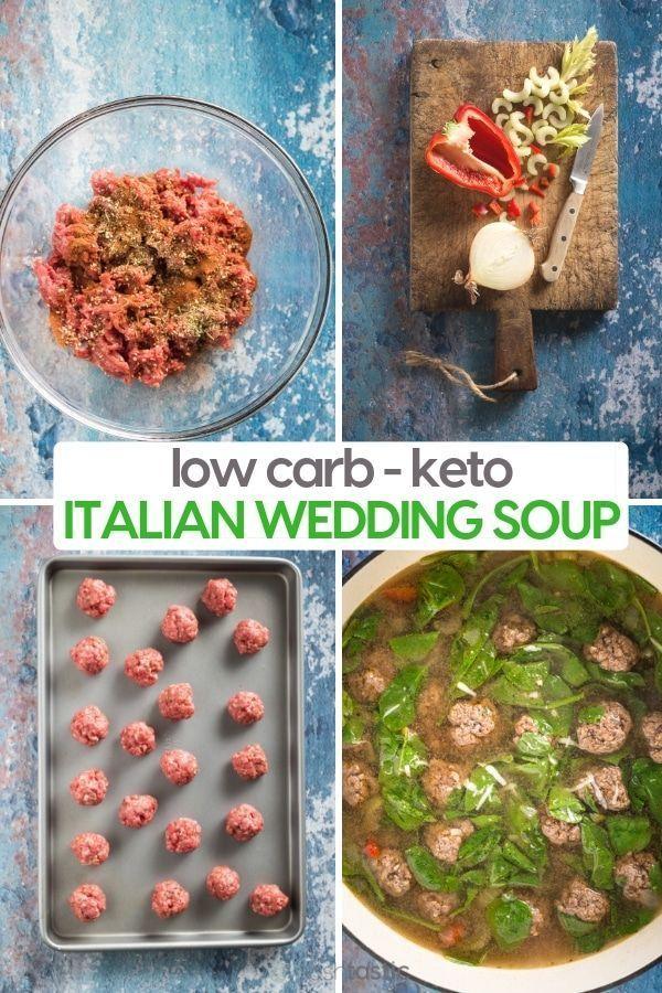 Easy Low Carb Italian Wedding Soup Recipe, perfect for your keto diet! | www.noshtastic.com | #noshtastic #glutenfree #lowcarb #keto #ketodiet #ketogenic #ketorecipes #ketogenicdiet #lowcarbrecipe #hflc #lchf #soup #italian #wedding #ketosoup #italianweddingsoup