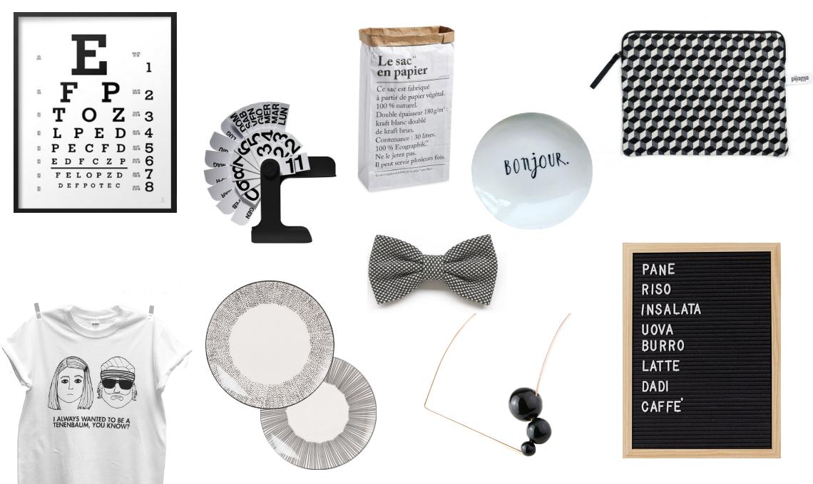 Natale di design: 10 idee regalo in Black & White