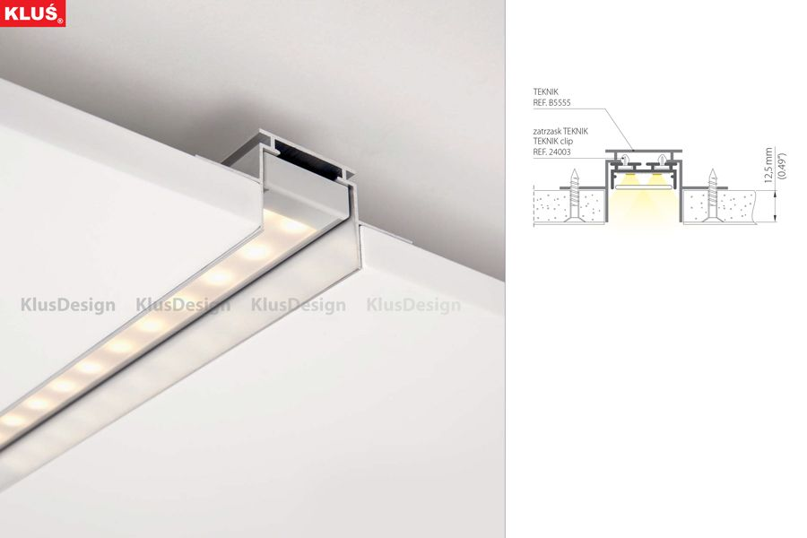 Led Extrusion For Led Tape Giza Bande De Lumiere Eclairage Corniche Plafond Design