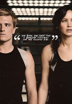 """""""You know, you could live a thousand lifetimes and not deserve him.""""- Haymitch to Katniss"""