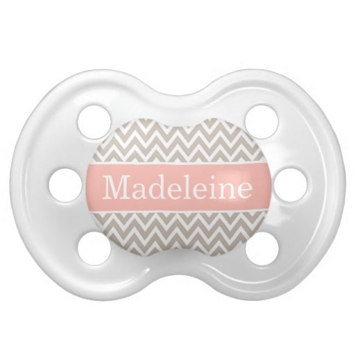 Personalized Name Blue Chevron Baby Pacifier