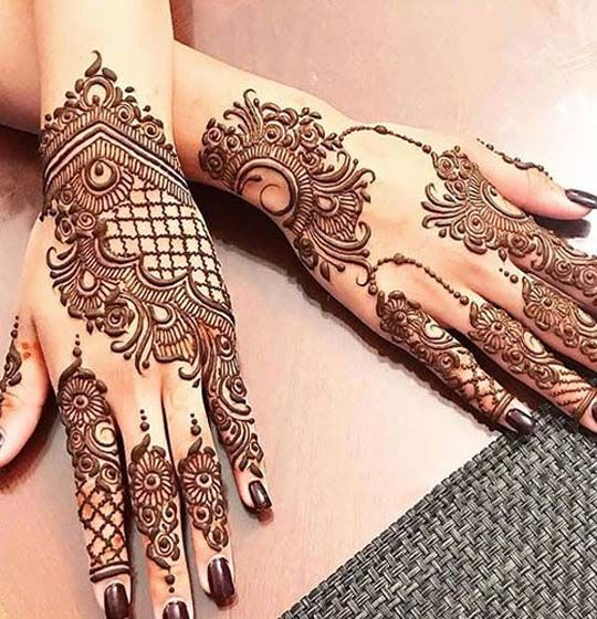 Stylish henna designs for parties  weddings in also best mehndi images rh pinterest
