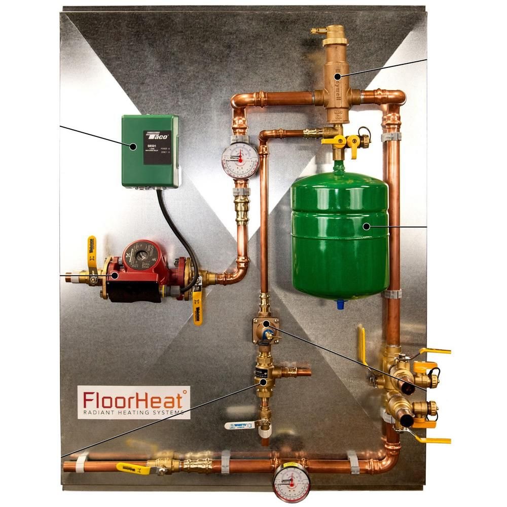 Floorheat 1 Zone Preassembled Radiant Heat Distribution Control