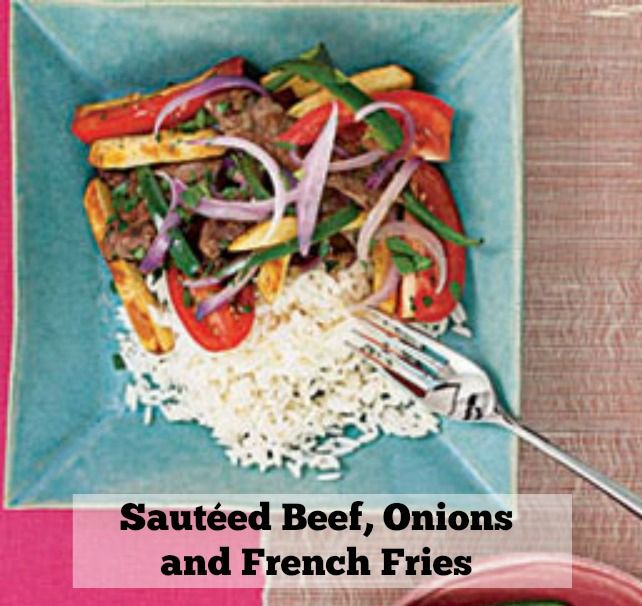 Tossing french fries with steak might seem strange, but they add a delightful texture and slightly salty punch to this stir-fried dish (a Peruvian dish known as Lomo Saltado) that features a spicy-sweet mix of garlic, soy sauce, cumin and jalapeño peppers.Get the recipe.