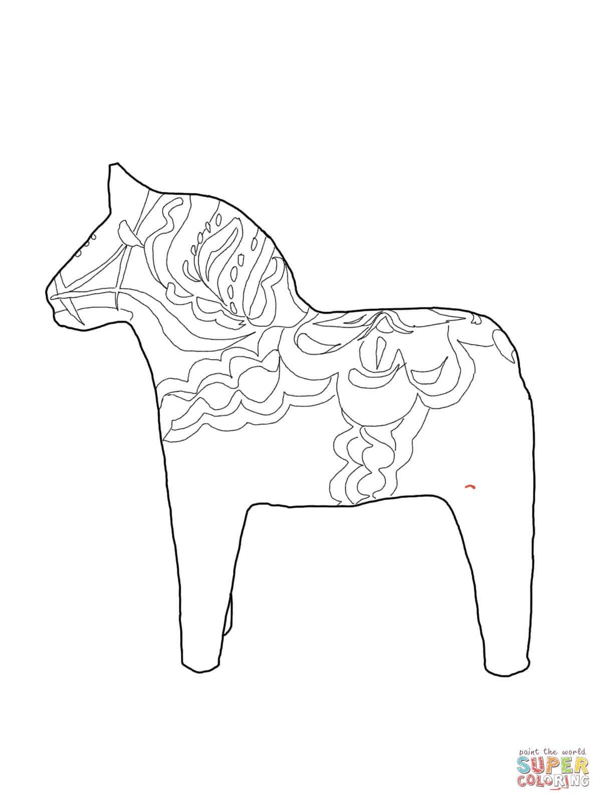 Swedish Dala Horse Coloring Page From Sweden Category Select From