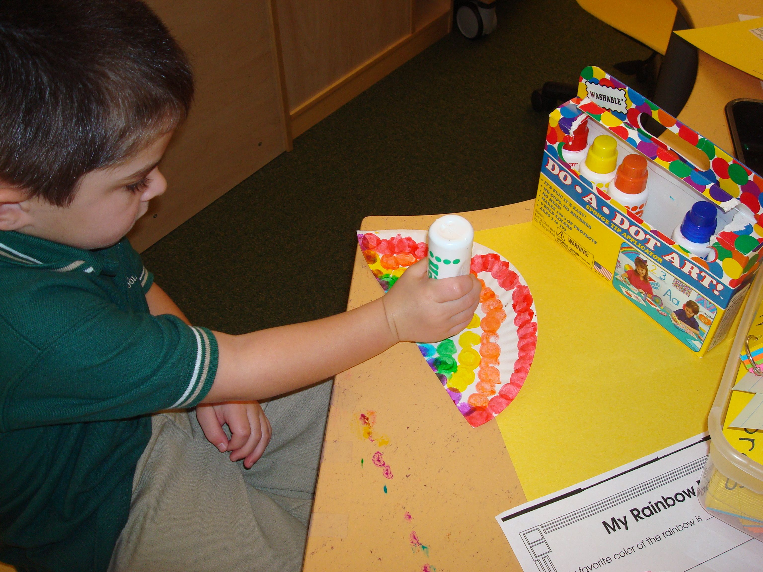 Pre K Students Work On Eye Hand Coordination And Fine