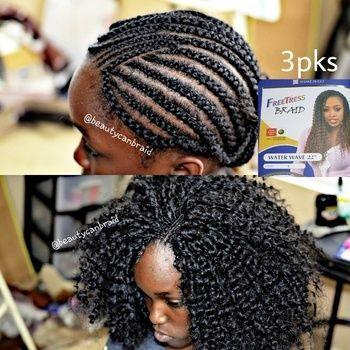 Crochet Pattern For Freetress Water Wave Crochet Hair Styles Crochet Braid Styles Hair Makeover