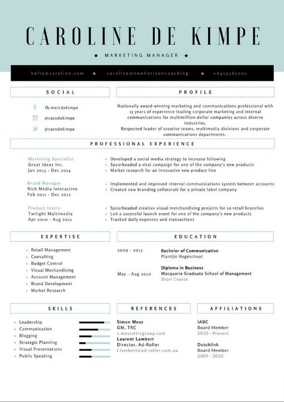 These Resume Templates Could Prevent You From Getting Interviews - social media resume template