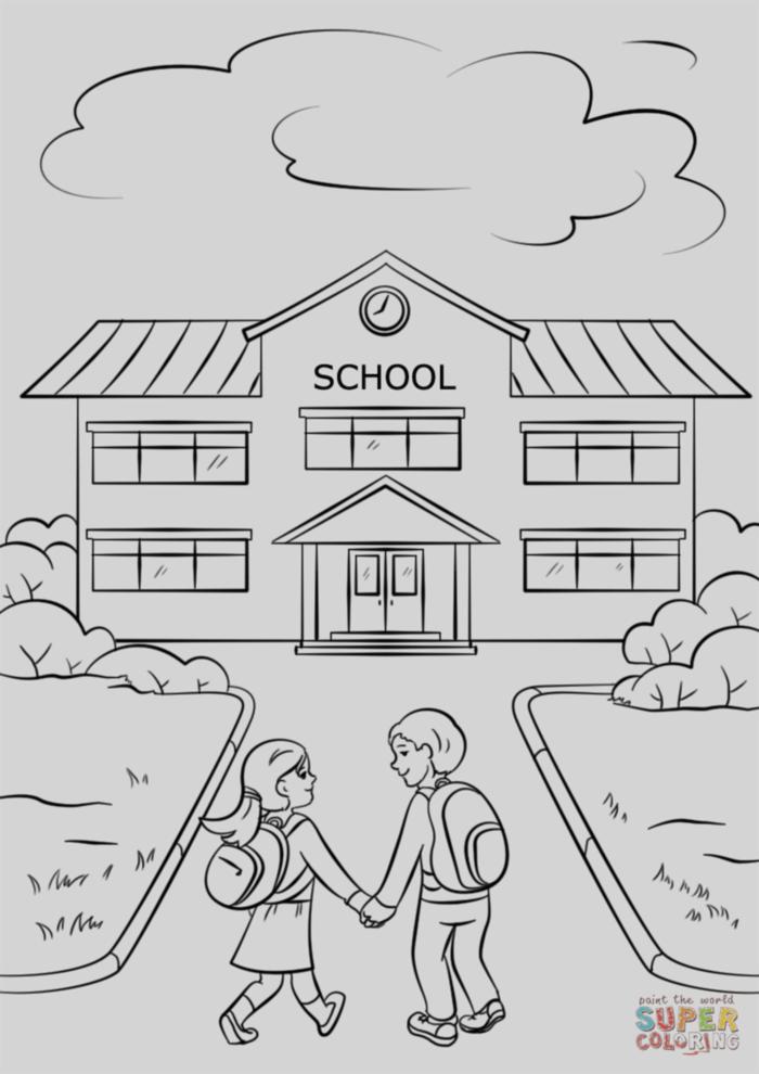 dibujos para colorear colegio imagenes de escuelas e