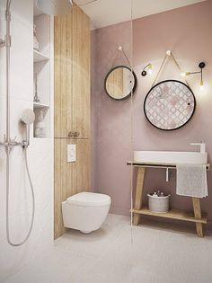 Salle de bains : 22 façons d\'inviter le rose poudré | Salle ...